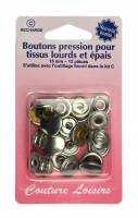 BOUTONS PRESSION 15MM ARGENT H405R.N