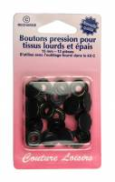 BOUTONS PRESSION 15MM NOIR H405R.O