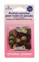 BOUTONS PRESSION VESTE + ANORAK BRONZE  H407R.B
