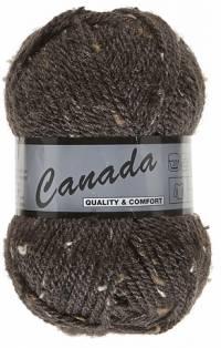 Laine Canada tweed marron foncé 430