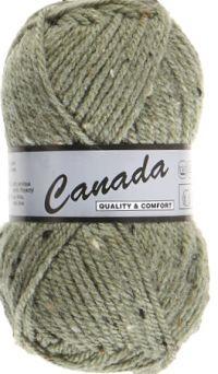 Laine Canada tweed vert pâle 495