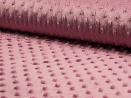 tissu minky rose 014 (1m45x50cm)