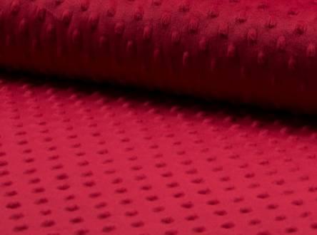 tissu minky rouge 015 (1m45x50cm)