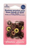 BOUTONS PRESSION 15MM BRONZE H405R.B