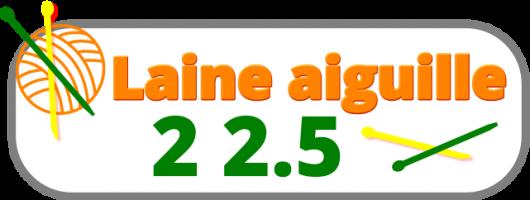 laine n°aiguille 2 2.5