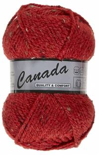Laine Canada tweed rouge 435