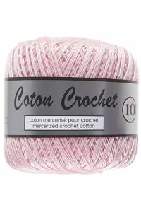 coton crochet rose pâle 370