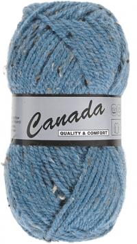 Laine Canada tweed bleu moyen 463