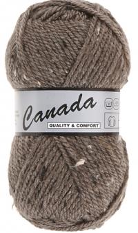 Laine Canada tweed marron 467