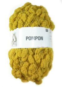 Pelote pompon moutarde 042