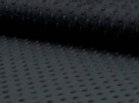 tissu minky noir 069 (1m45x50cm)