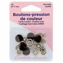 Bouton-pression de couleur H440NR.BK