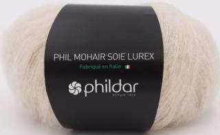 Phil mohair soie lurex ECRU