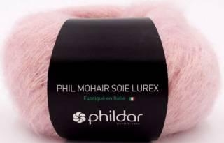 Phil mohair soie lurex ROSEE