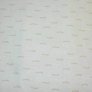 tissu coton double gaz poppy  08389-002 bleu menthe