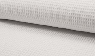 Tissu coton WAFFEL 050 BLANC