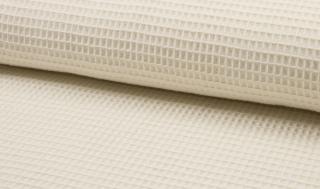 Tissu coton WAFFEL 051 ECRU