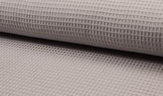 Tissu coton WAFFEL 061 GRIS CLAIR
