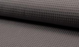 Tissu coton WAFFEL 068 GRIS FONCE