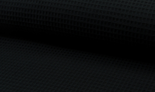 Tissu coton WAFFEL 069 NOIR