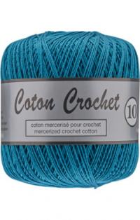coton crochet bleu canard 459