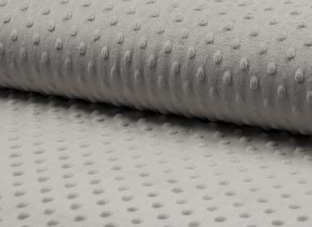 Tissu coton minky gris 062
